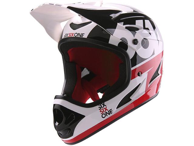 SixSixOne Comp - Casque de vélo - rouge/blanc